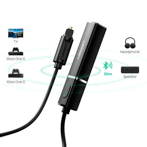 Bluetooth 5.0 аудио адаптер, трансмиттер, SPDIF оптический штекер, Ugreen