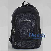 Рюкзак молодежный школьный City No669 43х36х29 см для мальчиков Черный