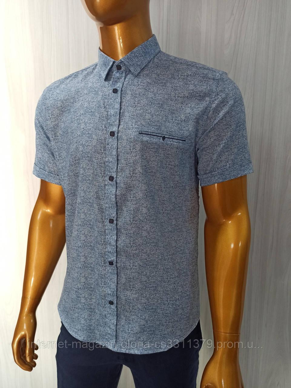 Мужская рубашка Amato. AG.19397-2(g). Размеры:M,L,XL(2), 2XL.