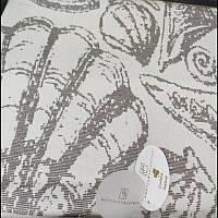 Элитная пляжная подстилка с кисточками, бежевая ракушка, Lagun, Pupilla, Турция