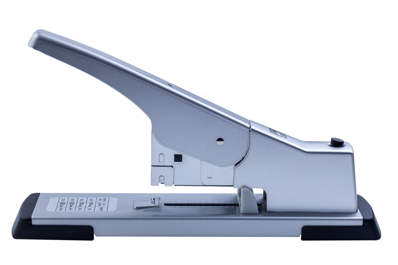 Степлер металлический усиленной мощности, 100 л., (скобы №23), 295х78х140 мм, серый (BM.4287-24)