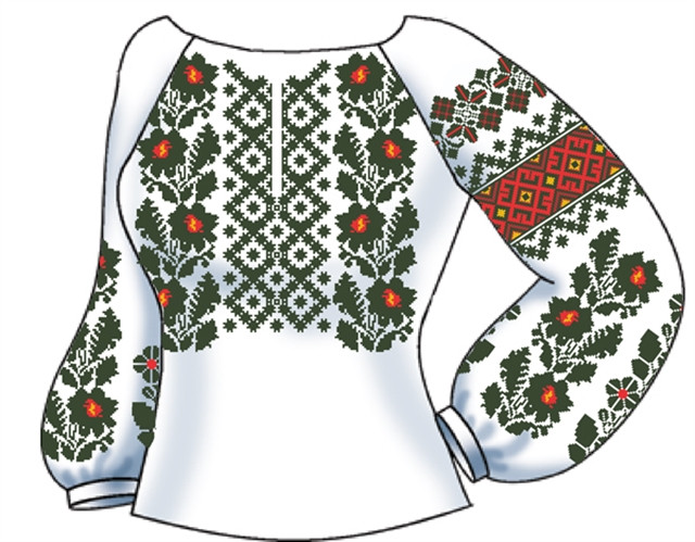 Заготовка Жіноча сорочка лляна біла -