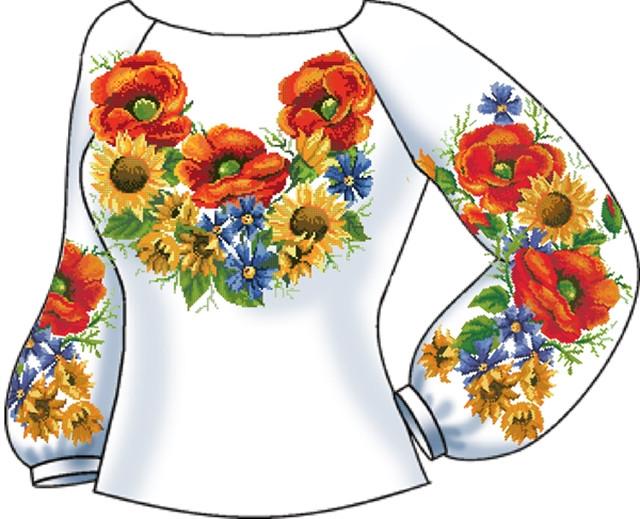 СВЖБ-32. Заготовка Жіноча сорочка лляна біла 52df657f2fe78