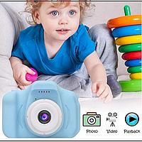 Детский цифровой фотоаппарат Smart Kids Camera GM14 с записью видео Full HD Blue, Интерактивные игрушки