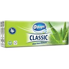 Ooops! носовые платки 3-хслойные Classic 10*10шт Aloe Vera