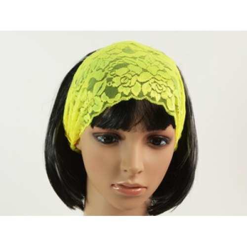 Летняя повязка для волос желтая
