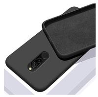 Чехол Silicone Case full Xiaomi Redmi 8 Black чёрный (ксиоми редми 8)