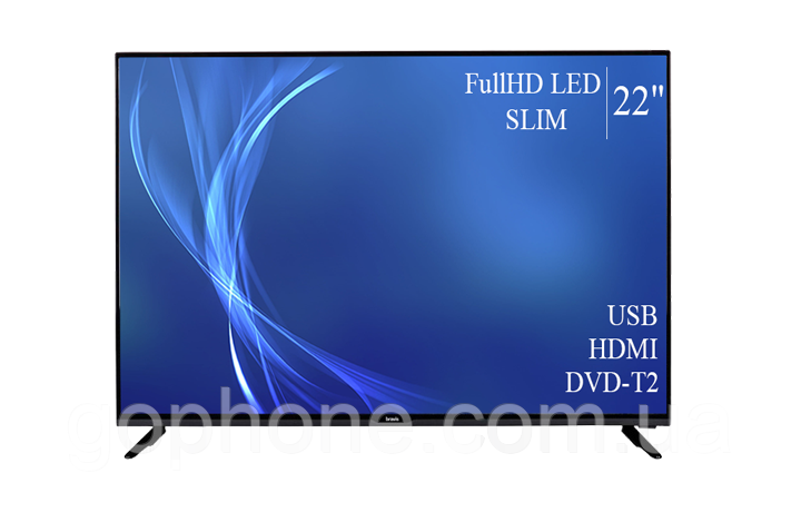 "Телевизор Bravis 22"" FullHD/DVB-T2/USB (1080р)"