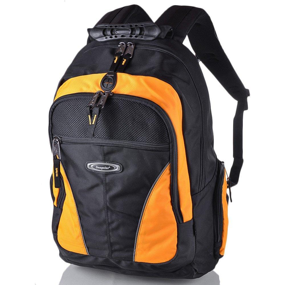 Рюкзак для ноутбука Onepolar Мужской рюкзак с отделением для ноутбука ONEPOLAR (ВАНПОЛАР) W1077-yellow