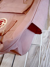 Рюкзак Fjallraven Kanken Classic на стиле, светло-розовый 16 литров (Полиэстер), фото 3