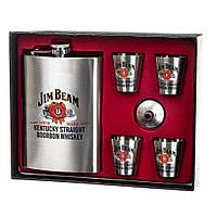 Набор подарочный фляга Lefard Jim Beam 250 мл +стопки 18138-009, фото 1