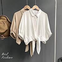 Рубашка женская белая, бежевая, 42-46, 48-52, фото 1