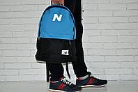 Рюкзак New Balance черно-синий. Стильный городской рюкзак синий с черным. , фото 1