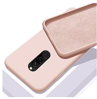 Чехол Silicone Case full Xiaomi Redmi 8 Pink пудровый (ксиоми редми 8)