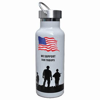 Туристический термос Han-Wild Outdoor American flag для воды объем 600 мл нержавеющая сталь термобутылка