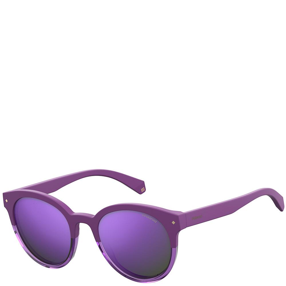 Солнцезащитные очки Polaroid Очки женские с ультралегкими поляризационными зеркальными линзами POLAROID (ПОЛАРОИД) POL6043FS-B3V54MF