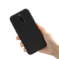 Чехол силиконовый Xiaomi Redmi 8 Black чёрный (ксиоми редми 8)