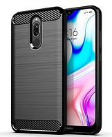 Чехол силиконовый Carbon Xiaomi Redmi 8 чёрный (ксиоми редми 8)