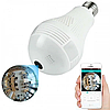 Камера видео наблюдения Панорамная IP лампочка (Рыбий глаз) SMART+DVR WI-FI H302 \ CAD-B13 White