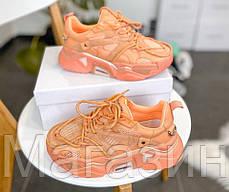 Женские кроссовки Strike 205 Orange 205W39NYC Кельвин Кляйн Келвин Клайн Страйк оранжевые, фото 3