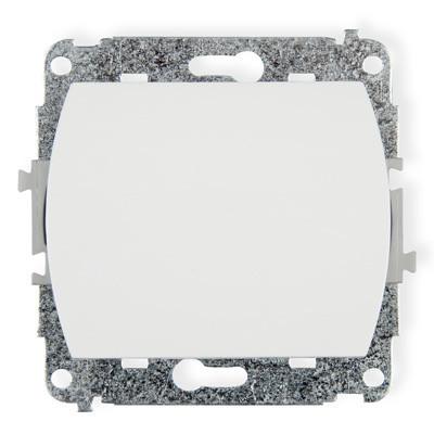 Выключатель одноклавишный WP-1 белый/бежевый Karlik TREND