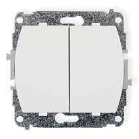 Выключатель двухклавишный WP-2 белый/бежевый Karlik TREND