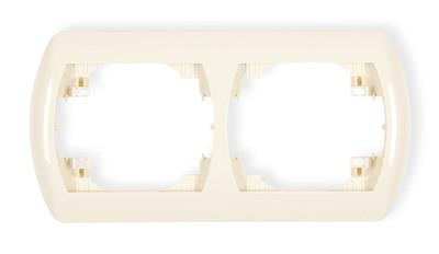 Рамка двухместная RH-2 белый/бежевый Karlik TREND