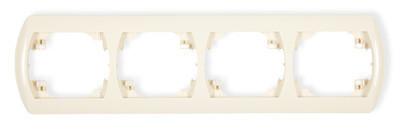 Рамка четырехместная RH-4 белый/бежевый Karlik TREND