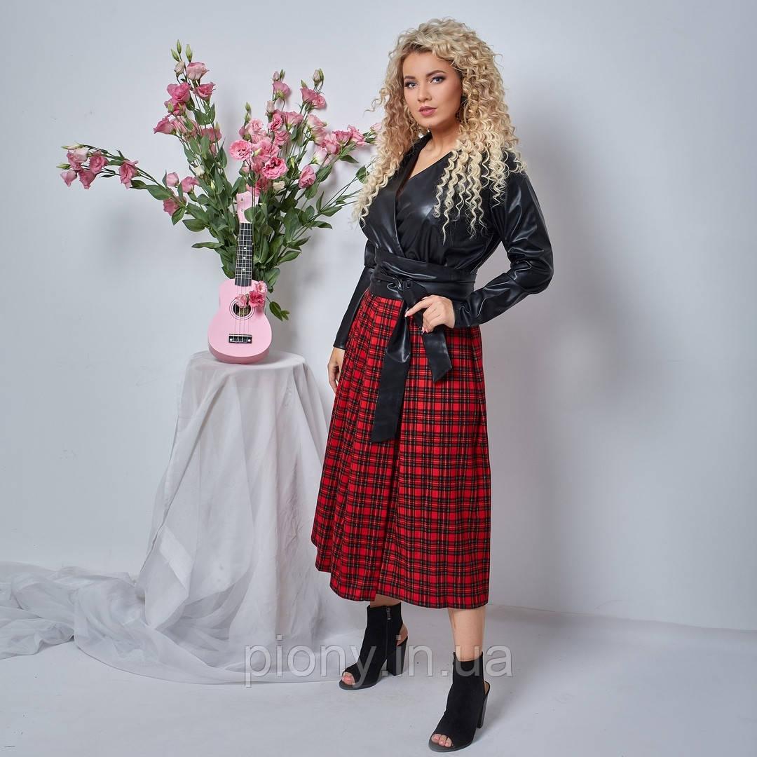Женское Стильное Платье миди Батал