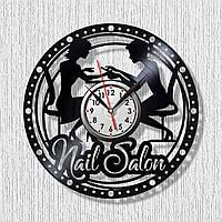 Часы настенные Маникюрный салон Виниловые часы Часы для Маникюра Часы для маникюрного салона Маникюр Гель-лак