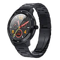 Умные смарт часы NO.1 DT98Metalс измерением артериального давления (Черный)