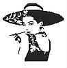 Одрі . Схема вишивки бісером