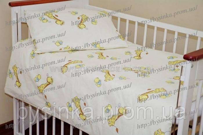 Детское сменное постельное в кроватку из 3-ед-