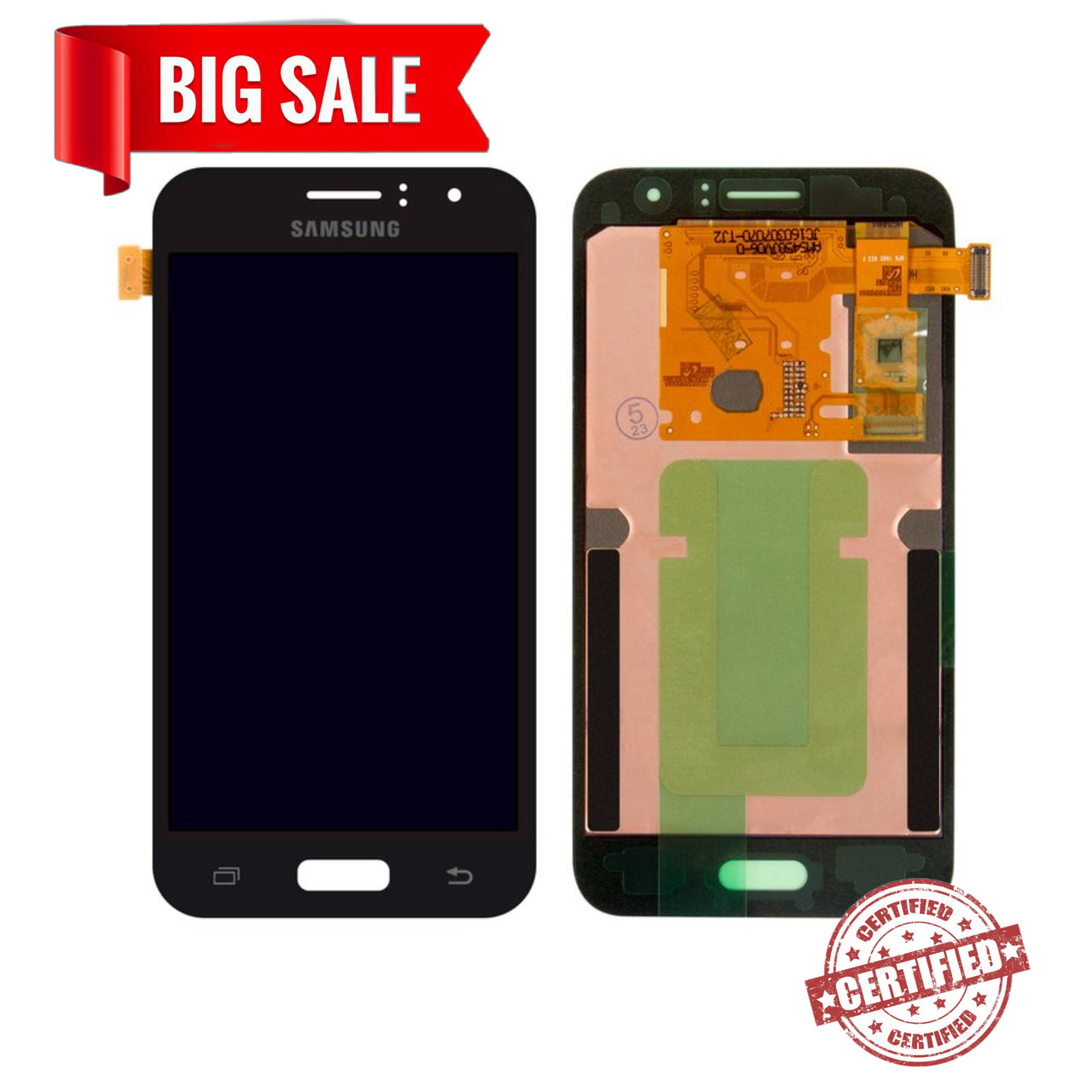 Модуль (дисплей+сенсор) для Samsung J120H Galaxy J1 (2016) AMOLED чорний