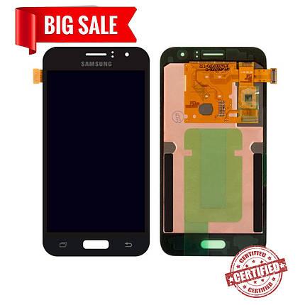 Модуль (дисплей+сенсор) для Samsung J120H Galaxy J1 (2016) AMOLED чорний, фото 2