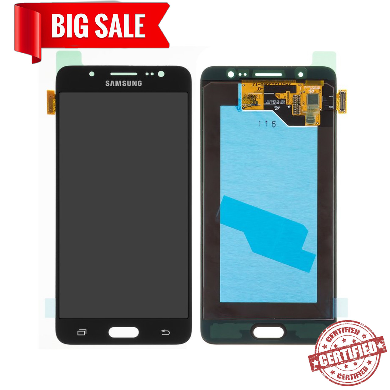 Модуль (дисплей + сенсор) для Samsung  J510H Galaxy J5 (2016) AMOLED чорний