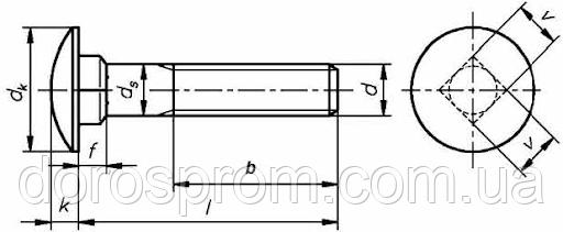 Болт мебельный ГОСТ 7802 DIN 603