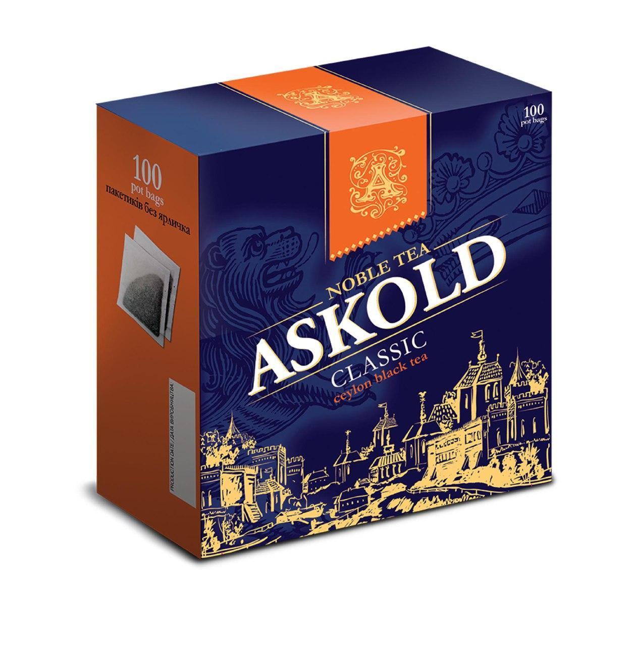 Чай черный Аскольд Классический 100 пакетиков