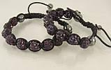 Браслет шамбала,фиолетовый, фото 3