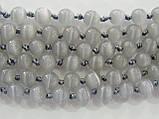 Бусы из кошачьего глаза,шар (серый), фото 2