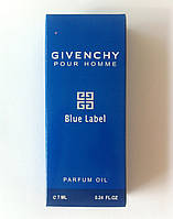 Масляный мини парфюм Givenchy Blue Label 7ml DIZ