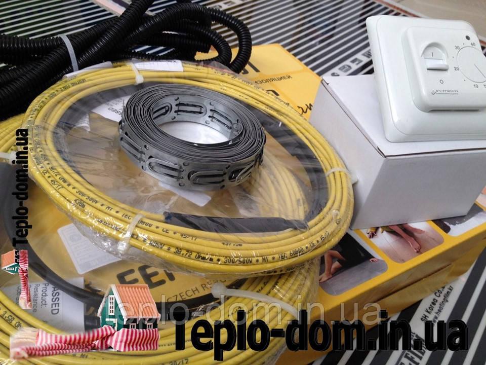 Электрический кабель для обогрева пола в квартире, 3,6 м2 (720 вт)  (Акционная  цена с механическим RTC 70.26)