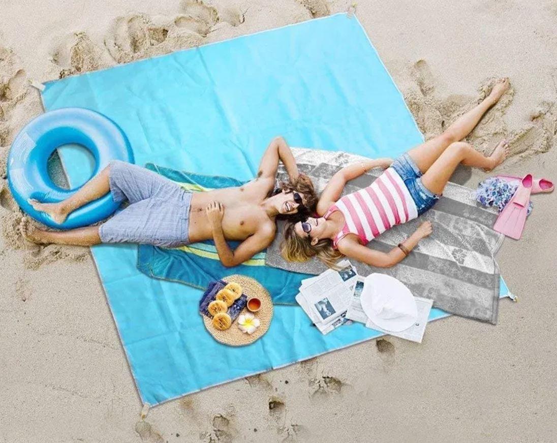 🔥 Пляжный коврик подстилка антипесок Sand free Mat 200*200см