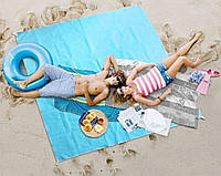 🔥 Пляжный коврик подстилка антипесок Sand free Mat 200*200см, фото 1