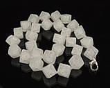 """Бусы из сахарного кварца """"кубик"""", фото 2"""