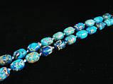 Бусы из варисцита, голубые, бочонок, фото 3