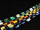 Бусы из агата, трубочка+ рондель, зеленые, фото 2