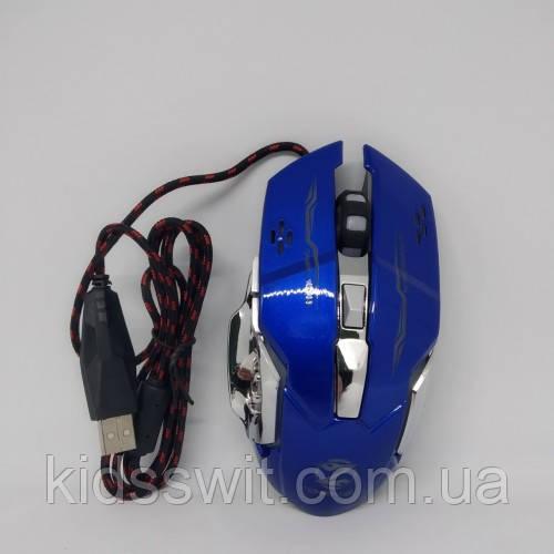 Ігрова миша з RGB підсвіткою Zornwee Z32 Синя