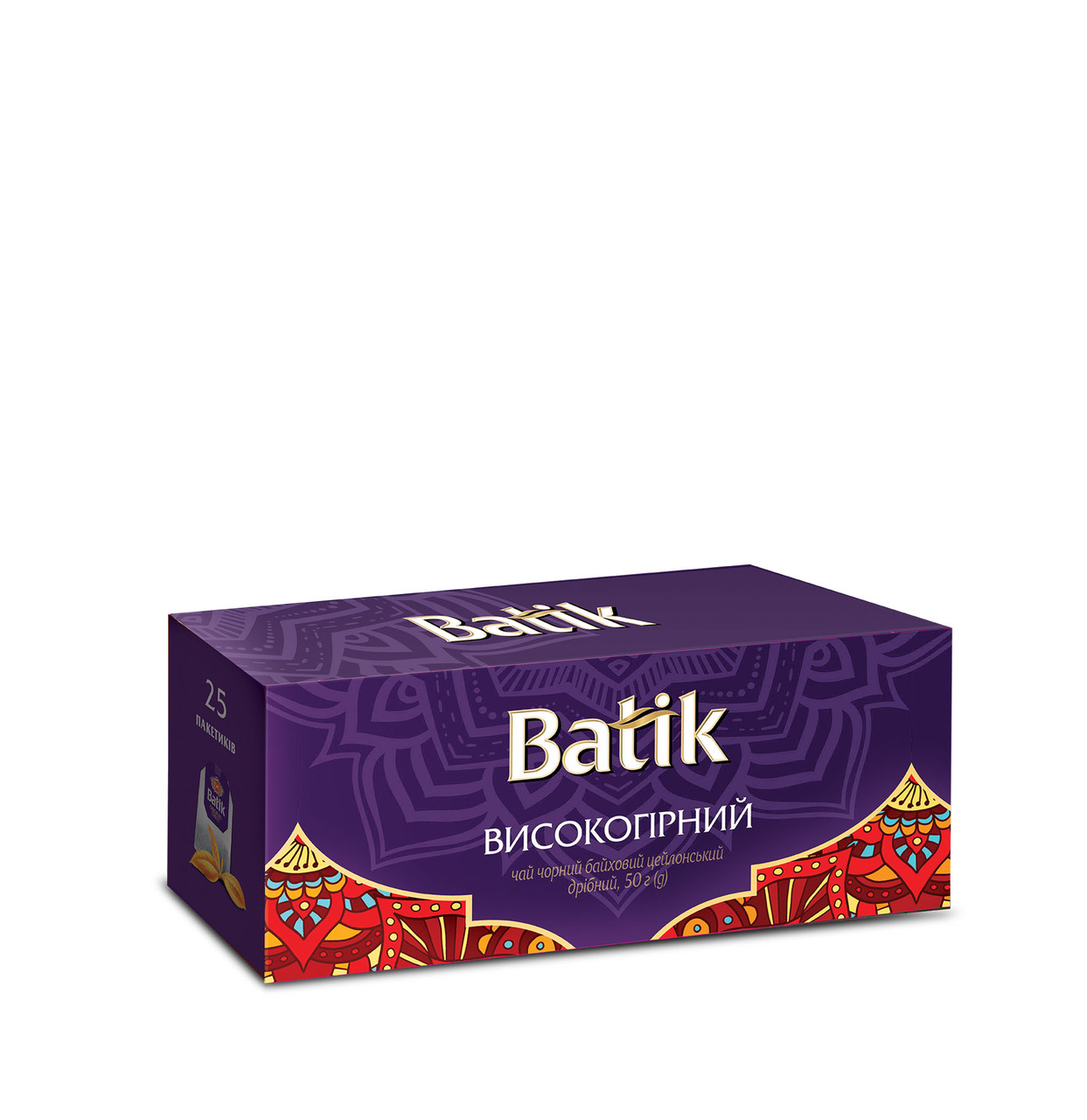 Чай Batik черный Высокогорный 25 пакетиков