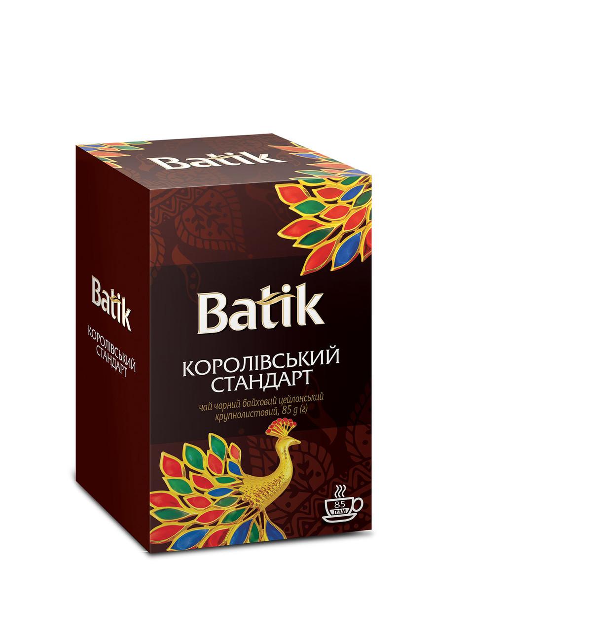 Чай черный листовой Батик Королевский стандарт 85 грамм